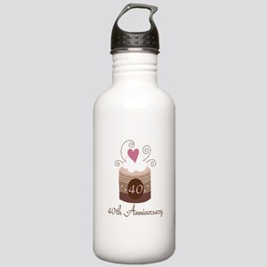 40th Anniversary Cake Stainless Water Bottle 1.0L