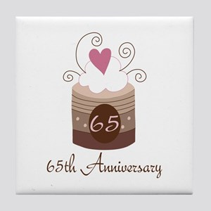65th Anniversary Cake Tile Coaster