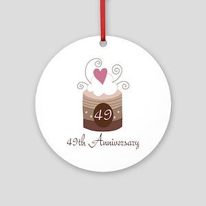 49th Anniversary Cake Ornament (Round)