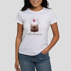 49th Anniversary Cake Women's T-Shirt