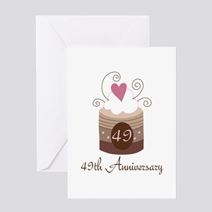 49th Anniversary Cake Greeting Card