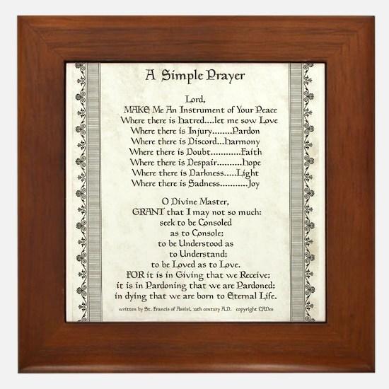 Pope Francis St. Francis SIMPLE PRAYER-Parchment F