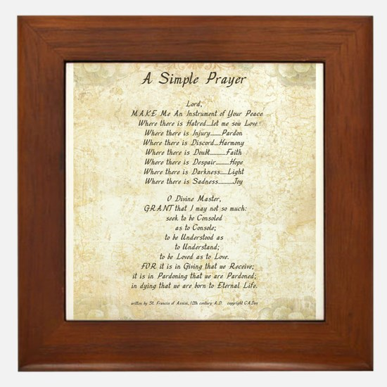 Pope St. Francis SIMPLE PRAYER for PEACE PRAYER