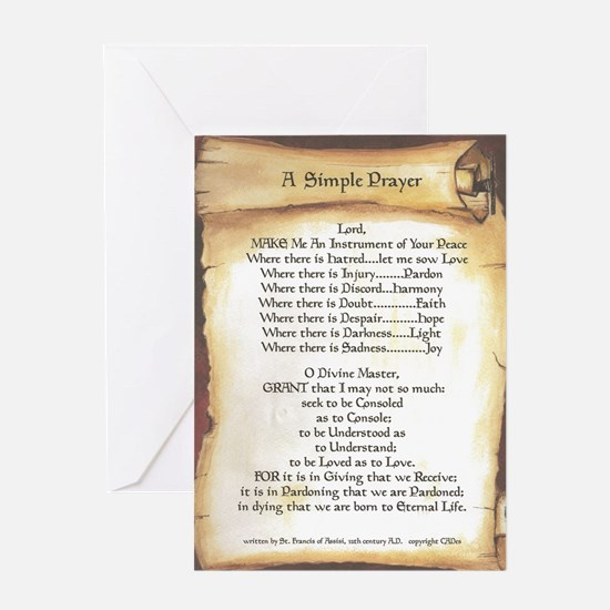 Pope Francis St. Francis SIMPLE PRAYER-Scroll Gree