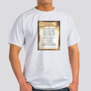 Pope Francis St. Francis SIMPLE PRAYER-Scroll T-Sh