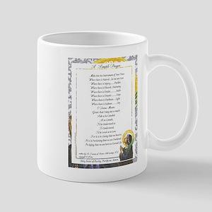 Pope Francis St. Francis SIMPLE PRAYER-Purity Mug