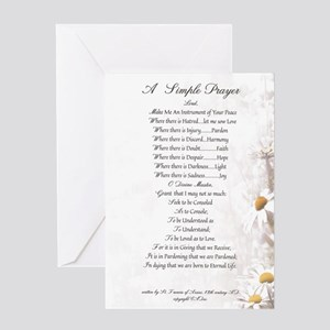 Pope Francis St. Francis SIMPLE PRAYER-Daisies Gre