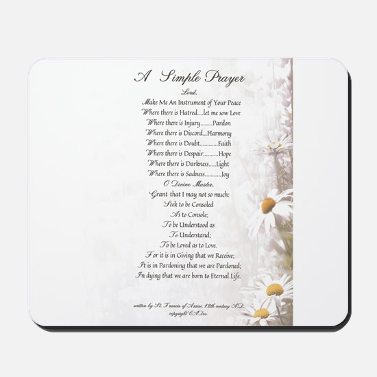 Pope Francis St. Francis SIMPLE PRAYER-Daisies Mou