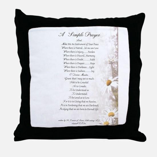 Pope Francis St. Francis SIMPLE PRAYER-Daisies Thr