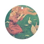 Smith's Goose Girl  Ornament (Round)