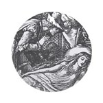 Crane's Sleeping Beauty Ornament (Round)
