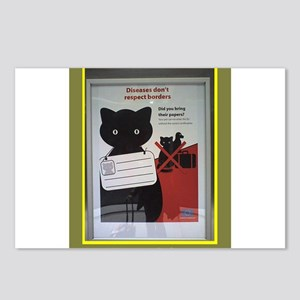 Cat poster Postcards (Package of 8)