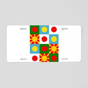 Rising sun flag design Aluminum License Plate