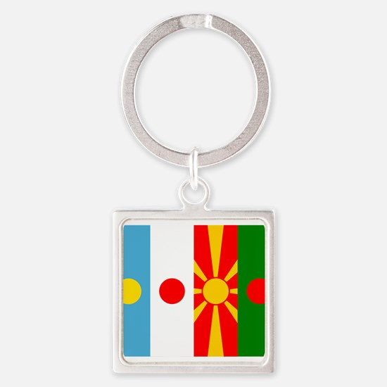 Rising four suns flags Keychains