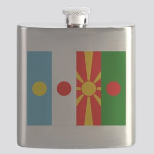 Rising four suns flags Flask
