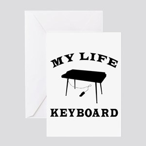 My Life Keyboard Greeting Card