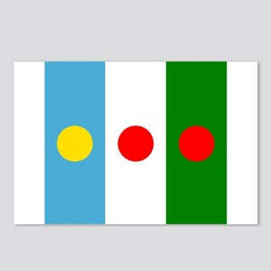 Three rising sun flags Postcards (Package of 8)