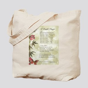 Pope Francis St. Francis SIMPLE PRAYER-Bamboo Tote