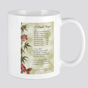 Pope Francis St. Francis SIMPLE PRAYER-Bamboo Mug