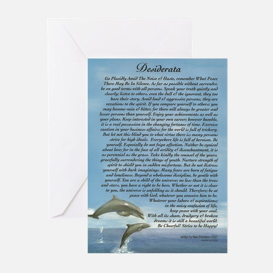 DESIDERATA Poem Dolphins Greeting Cards (Pk of 10)
