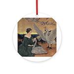 Winter's Wild Swans Ornament (Round)