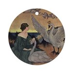 Winter's Wild Swans Ornament (Round)