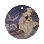 Winter's Snow Queen Ornament (Round)