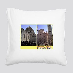Duomo, Firenze, Italy Square Canvas Pillow