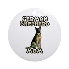 German Shepherd Mom Ornament (Round)