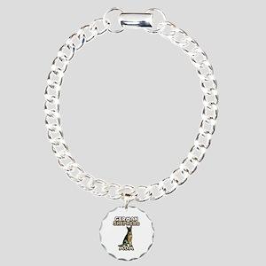 German Shepherd Mom Charm Bracelet, One Charm