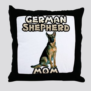 German Shepherd Mom Throw Pillow