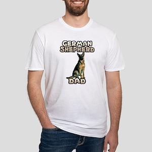 German Shepherd Dad Fitted T-Shirt