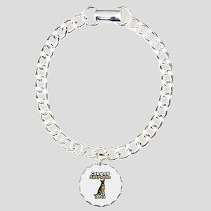 German Shepherd Dad Charm Bracelet, One Charm