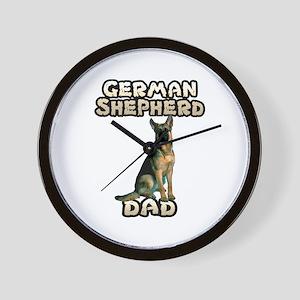 German Shepherd Dad Wall Clock