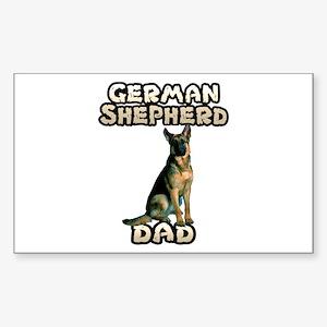 German Shepherd Dad Sticker (Rectangle)
