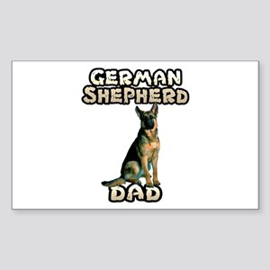 German Shepherd Dad Sticker (Rectangle)
