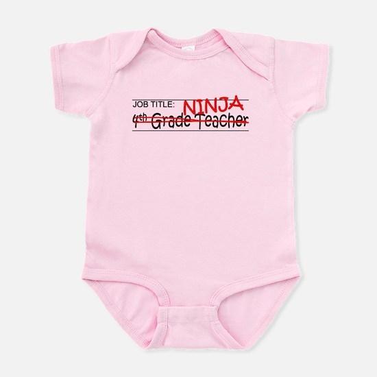 Job Ninja 4th Grade Infant Bodysuit