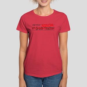 Job Ninja 4th Grade Women's Dark T-Shirt