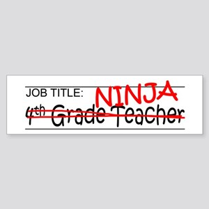 Job Ninja 4th Grade Sticker (Bumper)