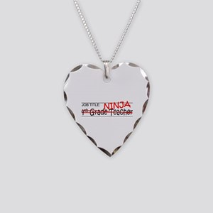 Job Ninja 4th Grade Necklace Heart Charm