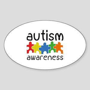 Autism Awareness Sticker (Oval)