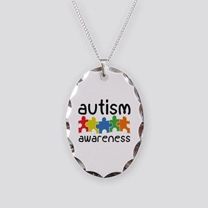Autism Awareness Necklace Oval Charm