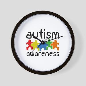 Autism Awareness Wall Clock