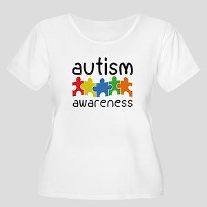 Autism Awareness Women's Plus Size Scoop Neck T-Sh