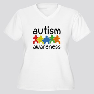 Autism Awareness Women's Plus Size V-Neck T-Shirt
