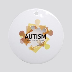Autism Awareness Ornament (Round)
