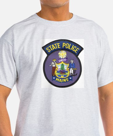 Maine State Police Ash Grey T-Shirt