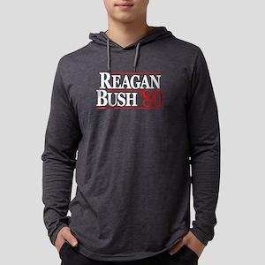 Reagan Bush Shirt Mens Hooded Shirt