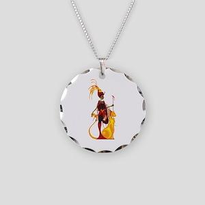 Sekhmet Necklace Circle Charm