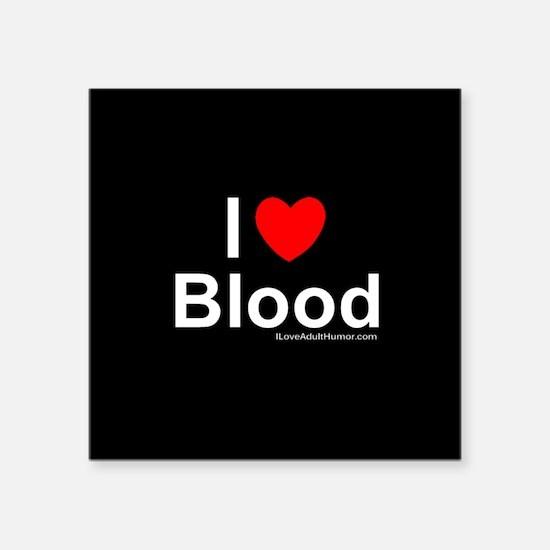 "Blood Square Sticker 3"" x 3"""